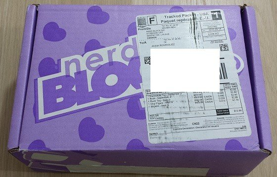 Nerd Block Junior Girls Subscription Box Review September 2015 - box