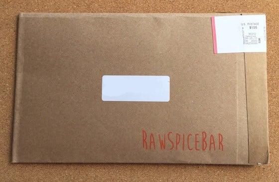 RawSpiceBar Subscription Box Review August 2015 - Box