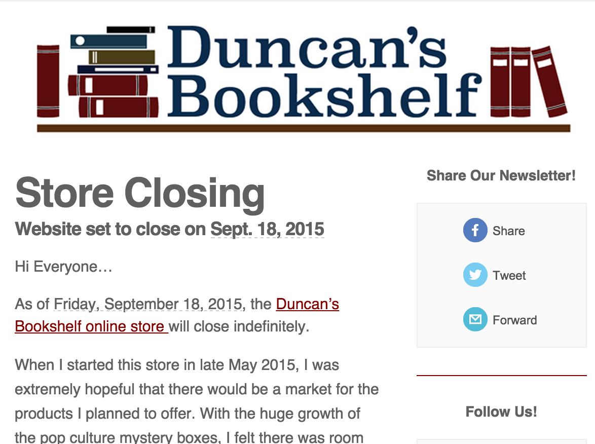 Duncan's BookShelf Mystery Book Grab Bag Closeout Sale