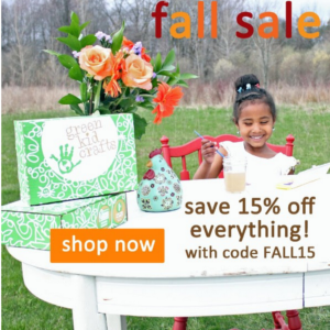 Green Kid Crafts Fall Sale – 15% Off Any Length Subscription