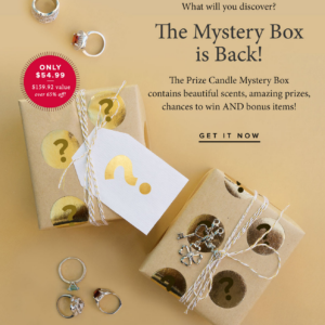 Today Only – Prize Candle Mystery Box + Coupon