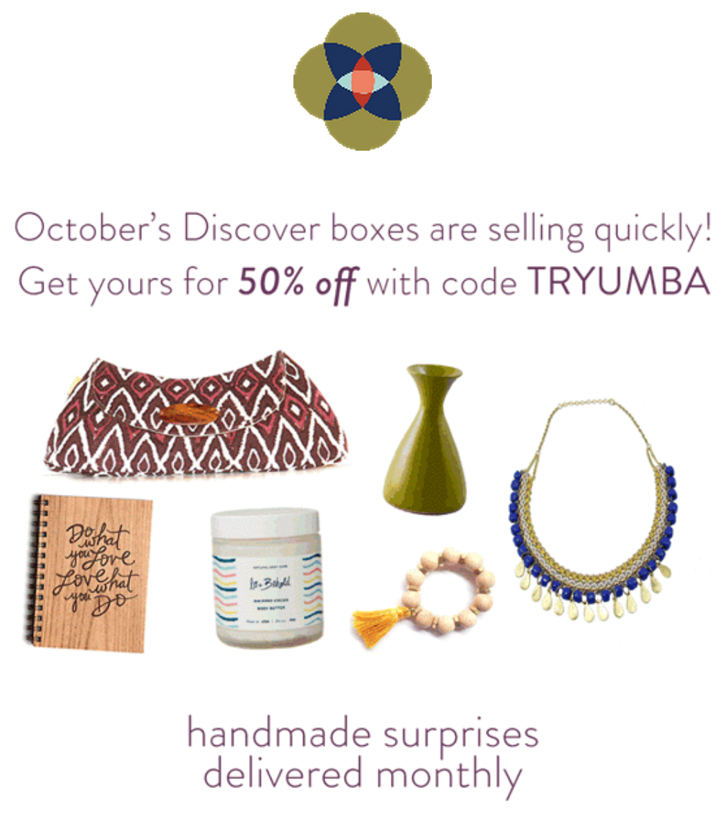 Umba Box 50% off Deal