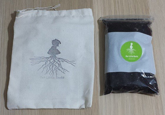 Our Little Roots Subscription Box Review September 2015 - bag-soil
