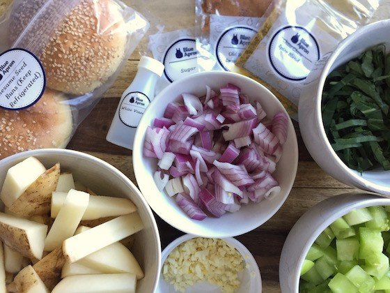 Blue Apron Subscription Box Review October 2015 - BurgerIngredients
