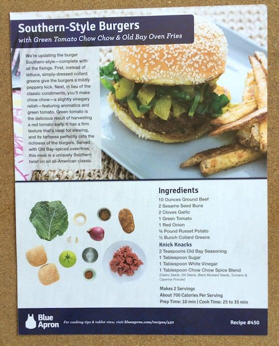 Blue Apron Subscription Box Review October 2015 - RecipeCards