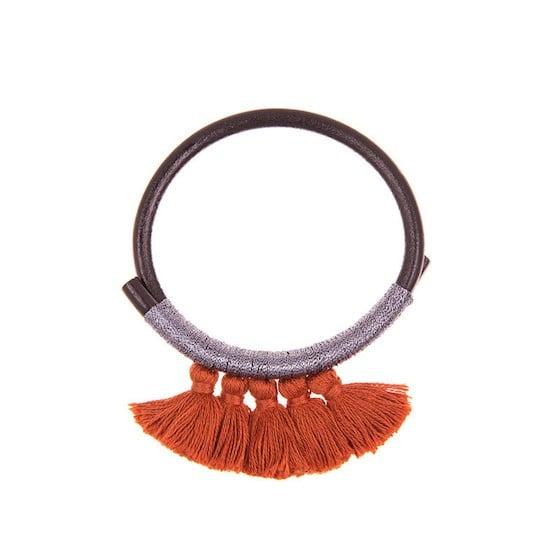 Nima Leather Tassel Bracelet