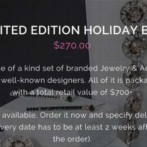 5th Avenue Style Limited Edition Holiday Box + $50 Coupon