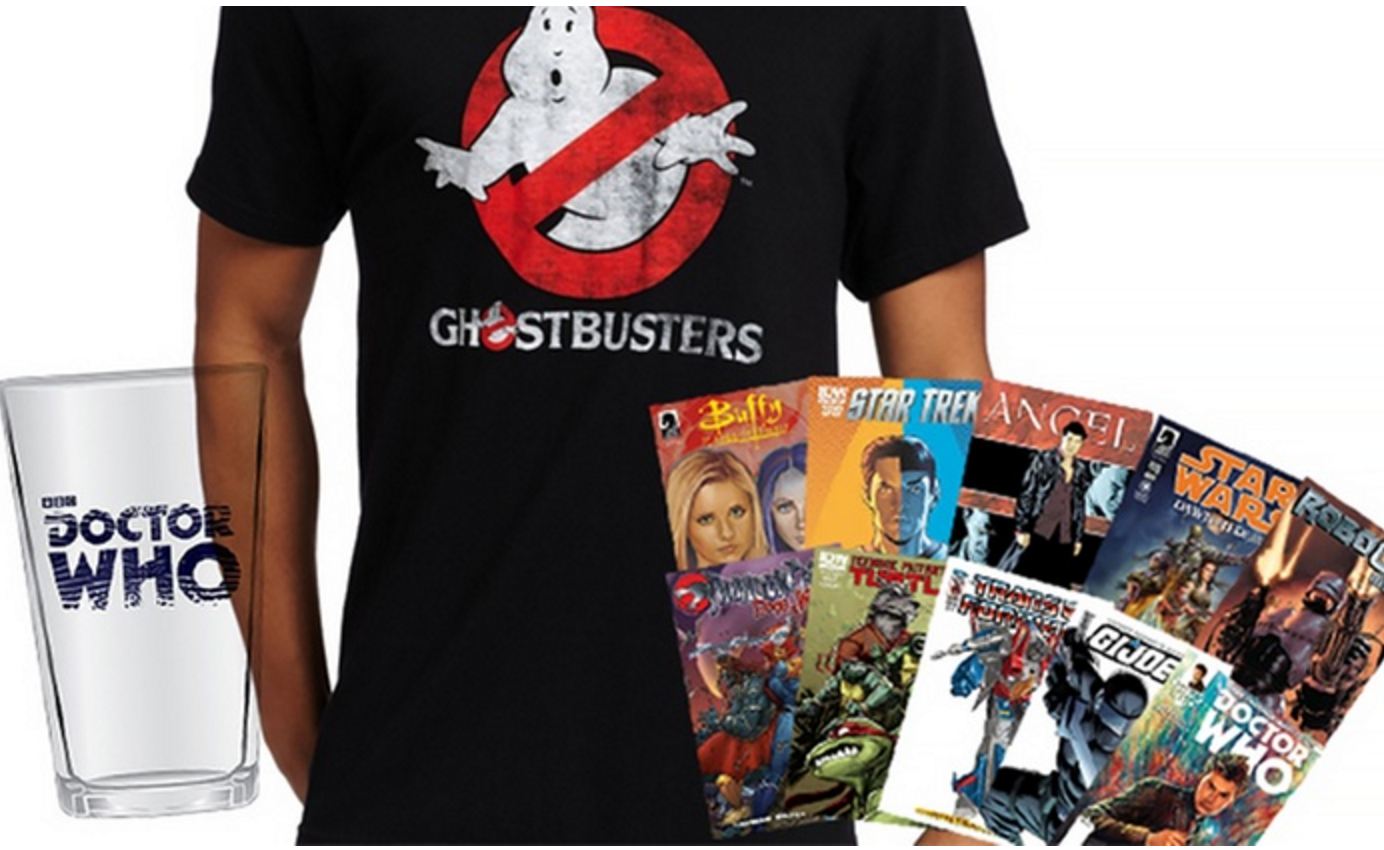 FROM $39.99$175 BUY! Movie Mystery Box with 25 Comics, T-shirt, and Pint Glass