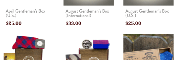 Gentleman's Box Black Friday Deal – 25% off Store Purchase