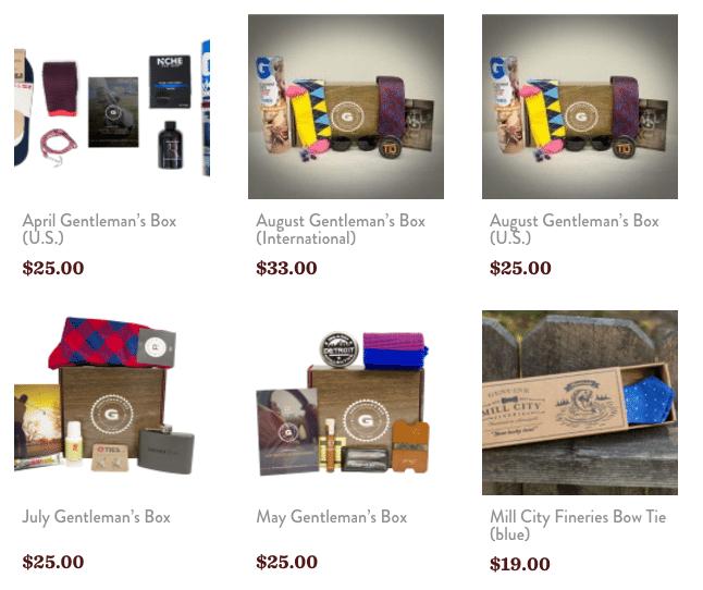 Gentleman's Box Store