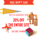 Best of Quarterly Cyber Monday Sale 50% Off + 20% Coupon