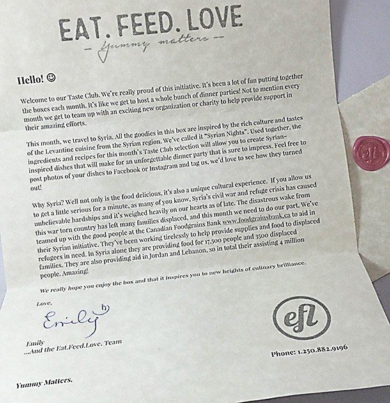 The Taste Club from Eat Feed Love Subscription Box Review November 2015 - 4