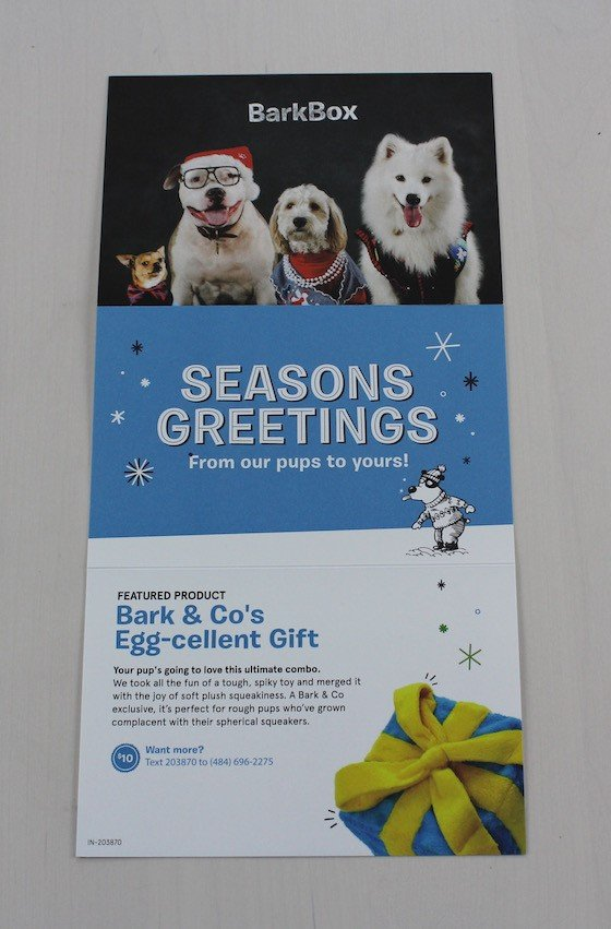 BarkBox Subscription Box Review & Coupon December 2015 - card 2