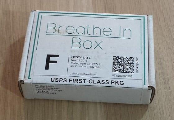 Breathe In Box Subscription Box Review November 2015 - box