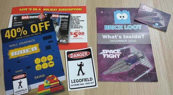 Brick Loot Subscription Box Review December 2015 - extras