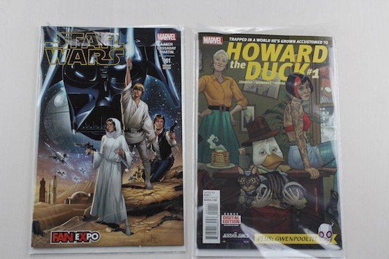 Comic Block Subscription Box Review + Coupon November 2015 - star wars and howard the duck