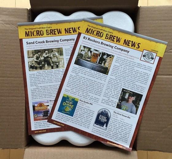 Craft Beer Club Subscription Box Review November 2015 - Box