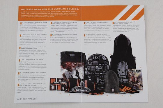 Loot Crate Limited Edition Call Of Duty Black Ops III Crate Review - card inside