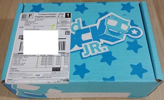 Nerd Block Junior Boys Subscription Box Review December 2015 - box