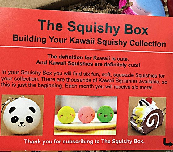 The Squishy Box Subscription Box Review November 2015 - 2