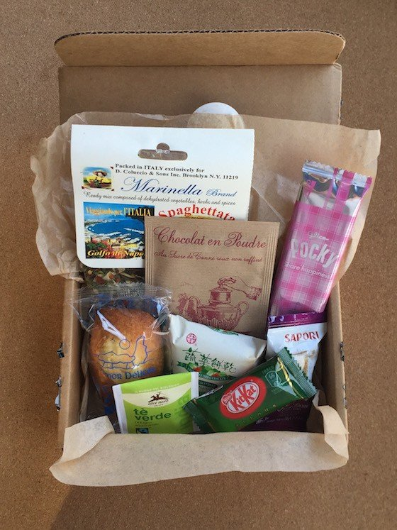 Yummy Bazaar Destination Food Club Subscription Box Review Sampler Box December 2015 - Contents