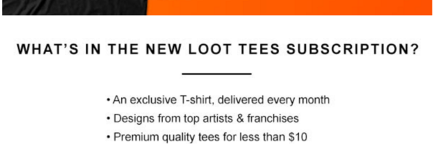 New Loot Crate Level Up T-Shirt Coupon – Save $2!