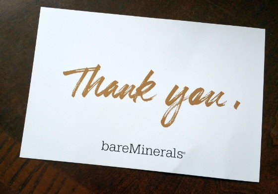 BARE MINERALS MYSTERY BOX MARCH 2016 - info 1
