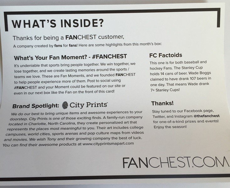 FanChest Card