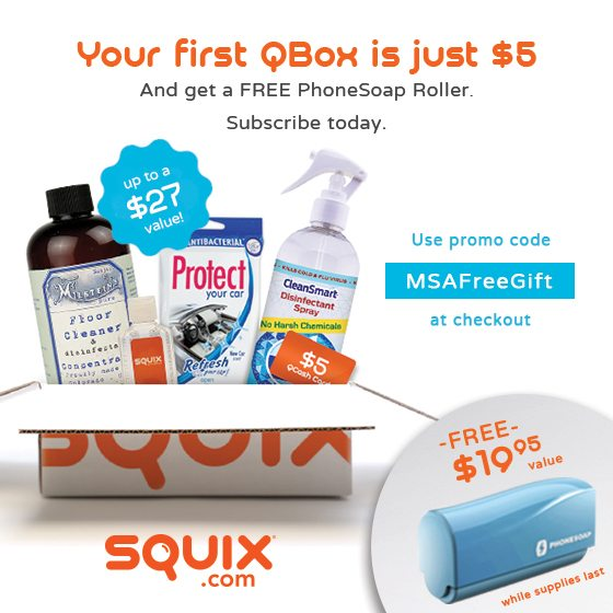 First Squix Box for $5 + FREE PhoneSoap Roller