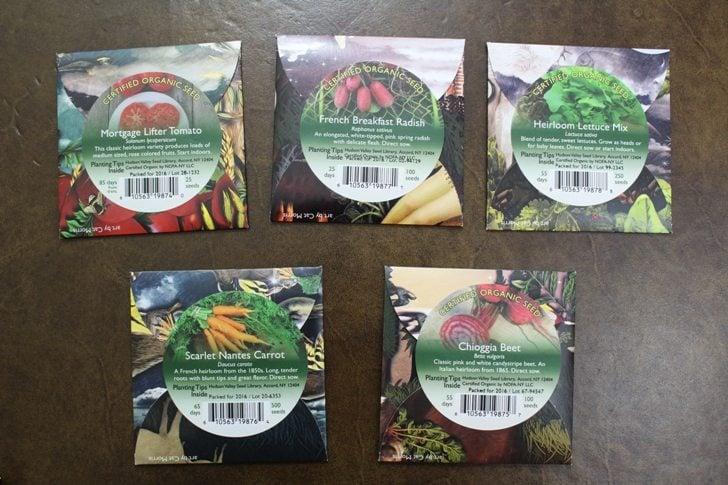Beekman-seed packets back