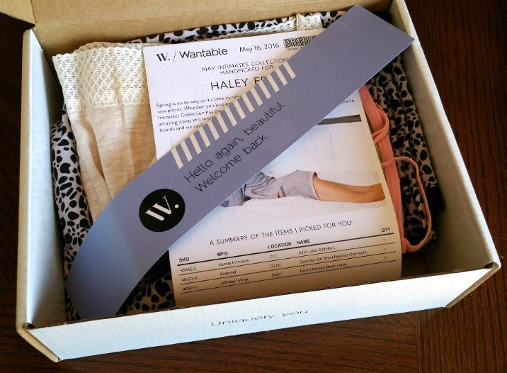 WANTABLE INTIMATES MAY 2016 - packaging