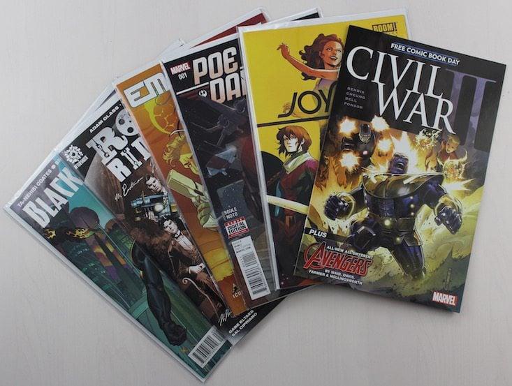 Comicboxer Subscription Box Review + Coupon April 2016 - all comics
