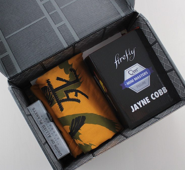 Loot Crate Firefly Cargo Crate Subscription Box Review + Coupon May 2016 - inside