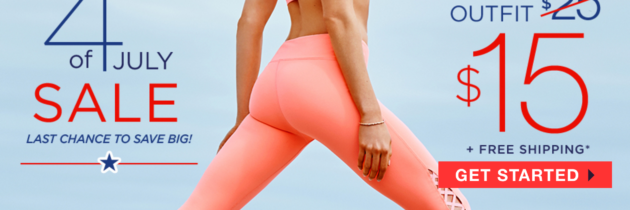 4th of July Sale – Get Your First Fabletics Outfit for Only $15!