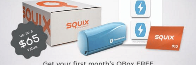 FREE First Squix Box + FREE Tech Swag Bag – Just Pay $4.95 Shipping