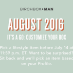 Birchbox Man August 2016 Selection Time!