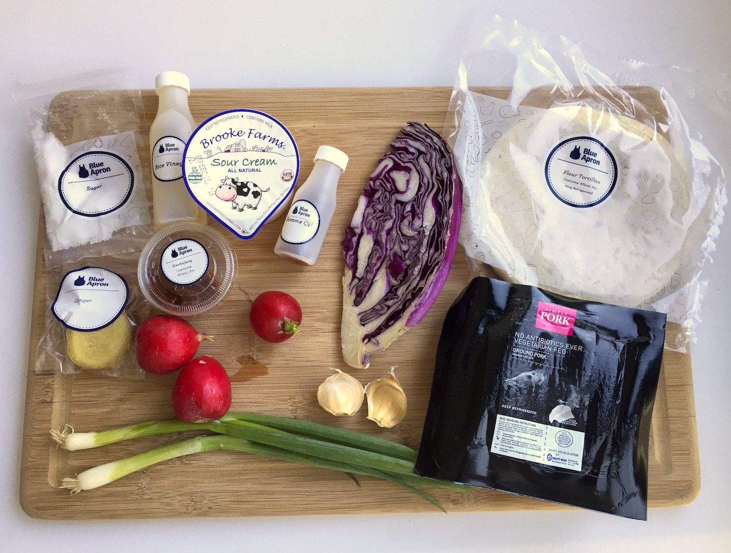 Blue apron korean tacos