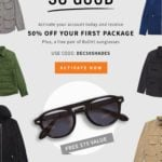 Five Four Club New Member Offer – Free Sunglasses + 50% Off!