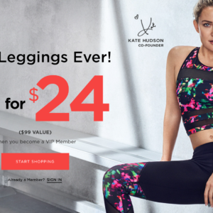 Fabletics Flash Sale – Get Any 2 Leggings for $24!