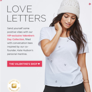 Fabletics Valentine's Day Collection Available Now!