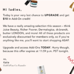 Last Chance for $10 in Add-On Credit with FabFitFun Annual Upgrade!