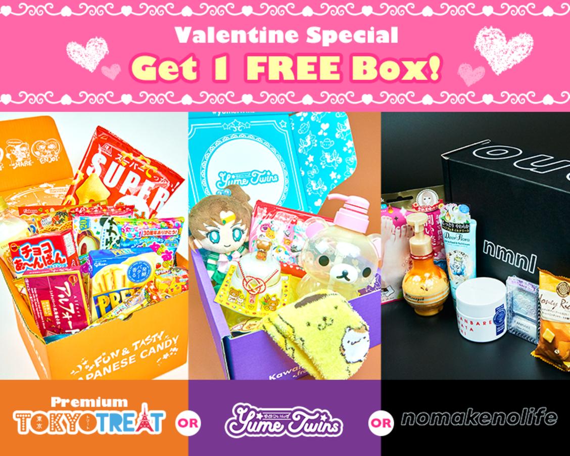 YumeTwins + TokyoTreat + nmnl Valentine's Special – Free Bonus Box with Pre-Paid Subscription!
