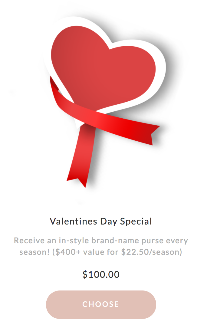 Ivory Clasp Valentine's Day Deal – 4 Bags for $100!