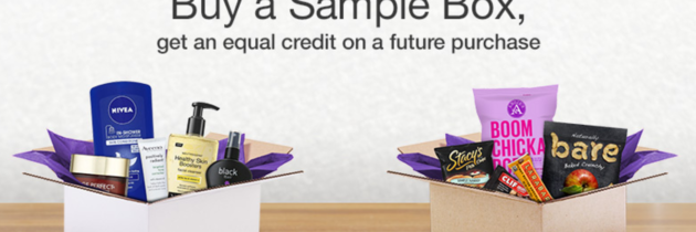Save $8.62 Off $50 on Amazon Sample Boxes that are FREE After Credit!