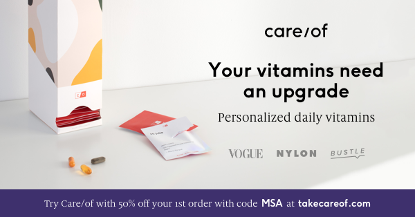 Care/of Personalized Daily Vitamins Coupon – 50% Off First Purchase!