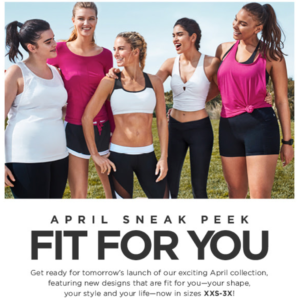 Fabletics April 2017 Preview + Get Any 2 Leggings for $24!