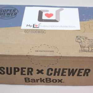BarkBox Super Chewer Subscription Box Review – Welcome Box