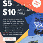 Loot Vault Flash Sale – $5 T-Shirts + $10 Baseball Tees