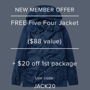 Five Four Club Coupon – FREE Jacket + $20 Off Your First Month!