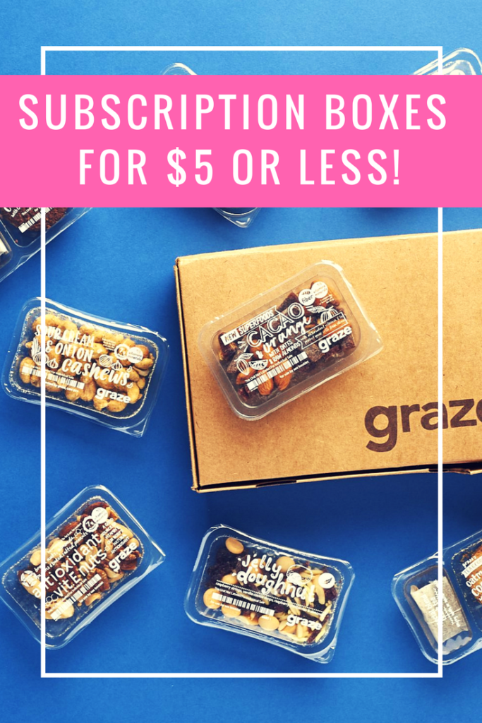 Cheap Subscription Boxes - Try the best cheap monthly boxes for $5 or less!